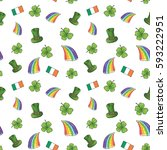 st patrick's day hand drawn... | Shutterstock .eps vector #593222951