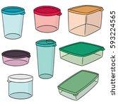 vector set of plastic container | Shutterstock .eps vector #593224565