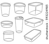 vector set of plastic container | Shutterstock .eps vector #593224985