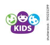 vector logo kids | Shutterstock .eps vector #593231399