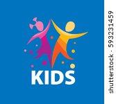 vector logo kids | Shutterstock .eps vector #593231459