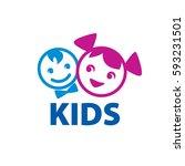vector logo kids | Shutterstock .eps vector #593231501