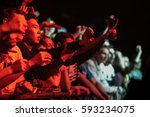 moscow 2 february 2017 excited... | Shutterstock . vector #593234075