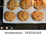 freshly baked homemade... | Shutterstock . vector #593234165
