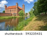 medieval gothic castle of the... | Shutterstock . vector #593235431