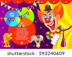 poster of the circus. happy... | Shutterstock .eps vector #593240609