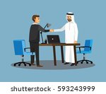 businesss and office concept  ... | Shutterstock .eps vector #593243999