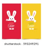 vector illustration easter... | Shutterstock .eps vector #593249291