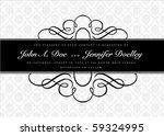 vector ornate narrow frame with ... | Shutterstock .eps vector #59324995