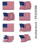 flag of usa | Shutterstock . vector #59325088