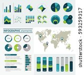 world map infographic. vector... | Shutterstock .eps vector #593259317