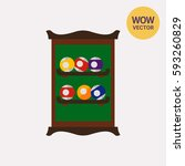 shelf with billiard balls | Shutterstock .eps vector #593260829
