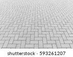 concrete paver block floor... | Shutterstock . vector #593261207