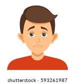 cartoon avatar the boy with an... | Shutterstock .eps vector #593261987
