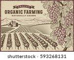 grapes organic farming landscape | Shutterstock . vector #593268131