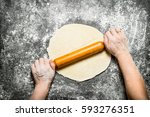 Dough Background. The Rolling...