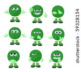 cute green emoticon art... | Shutterstock . vector #59328154