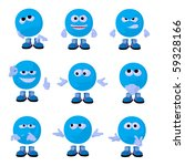 cute blue emoticon art... | Shutterstock . vector #59328166