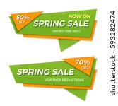 spring sale label price tag... | Shutterstock .eps vector #593282474