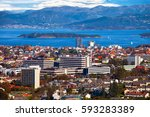 view of the cityscape of... | Shutterstock . vector #593283389