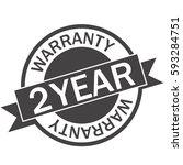 2 year warranty icon warranty... | Shutterstock .eps vector #593284751