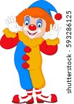 cute clown cartoon | Shutterstock .eps vector #593286125