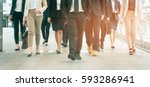 group of businessman and... | Shutterstock . vector #593286941