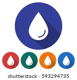 round icon of a water drop.... | Shutterstock .eps vector #593294735