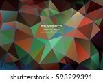 abstract low poly triangles... | Shutterstock .eps vector #593299391
