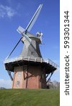 classic wind mill greetsiel | Shutterstock . vector #593301344