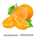 orange fruits with leaf and... | Shutterstock . vector #593301935