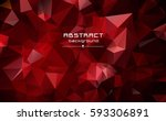abstract low poly triangles... | Shutterstock .eps vector #593306891