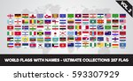 world flags. ultimate... | Shutterstock .eps vector #593307929