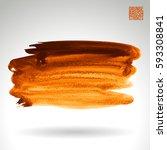 brush stroke and texture.... | Shutterstock .eps vector #593308841