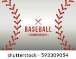 vector of baseball background. | Shutterstock .eps vector #593309054