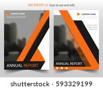orange vector annual report... | Shutterstock .eps vector #593329199