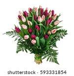 bouquet of tulips | Shutterstock . vector #593331854
