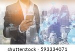 smart city internet of things...   Shutterstock . vector #593334071