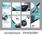 brochure  annual report  flyer... | Shutterstock .eps vector #593334389