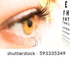 ophthalmologist concept ... | Shutterstock . vector #593335349