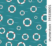 seamless vector pattern with... | Shutterstock .eps vector #593338001