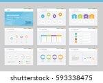 flat vector  set infographics... | Shutterstock .eps vector #593338475