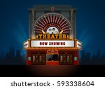 theater cinema building vector. ... | Shutterstock .eps vector #593338604