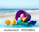 Easter Eggs With Toddler Beach...