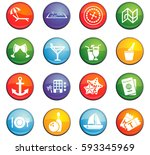 cruise vector icons for user... | Shutterstock .eps vector #593345969