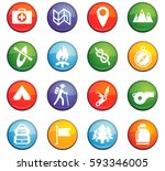 day of scouts vector icons for... | Shutterstock .eps vector #593346005