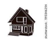 building perspective 3d.... | Shutterstock .eps vector #593346254