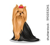 yorkshire terrier dog | Shutterstock .eps vector #593353241