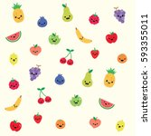 party fruit background texture  ... | Shutterstock .eps vector #593355011