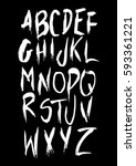 graphic font for your design.... | Shutterstock .eps vector #593361221
